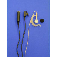 SUPERIOR RANGE CLEAR SOFT RUBBER ADJUSTABLE G-SHAPE RADIO EARPIECE & MIC 3 WIRE CHASSIS IN BLACK
